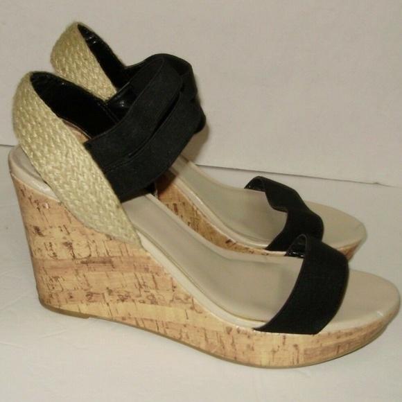 b2e71a6f72b Kohls Sandals Size 10 Black Cork 4